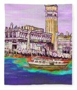 Il Campanile Di San Marco Fleece Blanket