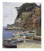 il porto di Sorrento Fleece Blanket