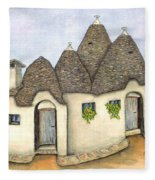Il Trullo Alberobello Fleece Blanket