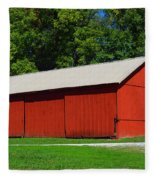 Illinois Red Barn Fleece Blanket