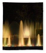 Illuminated Dancing Fountains Fleece Blanket