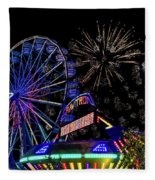 Illuminated Ferris Wheel With Neon Fleece Blanket