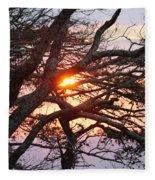 Illuminating Sunset Fleece Blanket