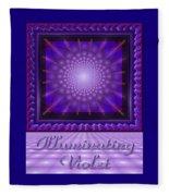 Illuminating Violet Fleece Blanket