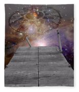 Illusion Of Time Fleece Blanket
