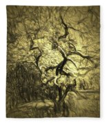 Illusion Tree Fleece Blanket