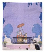 Illustration From A Book Of Fairy Tales Fleece Blanket