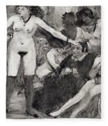Illustration From La Maison Tellier By Guy De Maupassant  Fleece Blanket