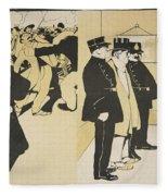 Illustration From Lassiette Au Beurre Fleece Blanket
