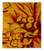 Imagination In Hot Vivid Yellows Fleece Blanket