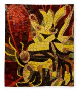 Imagination In Reds And Yellows Fleece Blanket