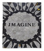 Imagine A World Of Peace Fleece Blanket