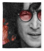 Imagine John Lennon Again Fleece Blanket