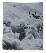 Imagine The Brave Men In These Bombers On A World War II Mission Fleece Blanket