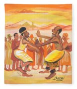 Imbiyino Dance From Rwanda Fleece Blanket