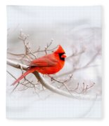 Img_2559-8 - Northern Cardinal Fleece Blanket