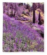 Img 4892_ Purple Lupine_ Yosemite National Park  Fleece Blanket