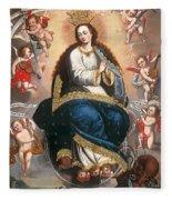 Immaculate Virgin Victorious Over The Serpent Of Heresy Fleece Blanket