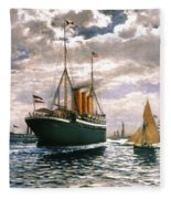 Immigrant Ship, 1893 Fleece Blanket