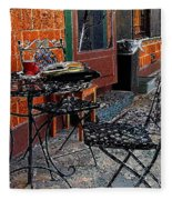 Impressionism The Looney Bean Cafe  Fleece Blanket
