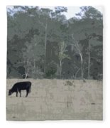 Impressionist Cows Grazing Fleece Blanket