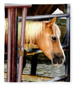 Impressionist Horse Fleece Blanket