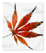 Impressionist Japanese Maple Leaf Fleece Blanket