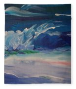 Impressionistic Abstract Wave Fleece Blanket