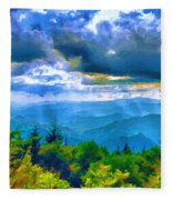 Impressions Of Waterrock Knob On The Blue Ridge Parkway Fleece Blanket