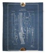 Improvement To Muzzle-loading Fire-arm - Vintage Patent Blueprint Fleece Blanket