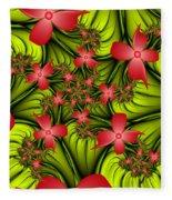 In A Flower Meadow Fleece Blanket