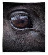 In A Horse's Eye Fleece Blanket