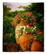 In A Portuguese Garden - Digital Oil Fleece Blanket