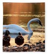 In A Stream Of Golden Light Fleece Blanket