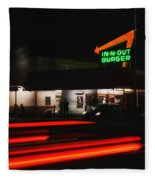 In And Out In Pasadena Fleece Blanket