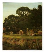 In Country Churchyard Wittington Worcester Fleece Blanket