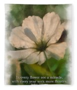 In Every Flower See A Miracle 01 Fleece Blanket