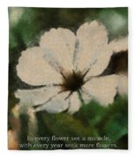 In Every Flower See A Miracle 03 Fleece Blanket