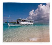 In Harmony With Nature. Maldives Fleece Blanket