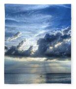In Heaven's Light - Beach Ocean Art By Sharon Cummings Fleece Blanket