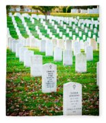 In Honor And Tribute Fleece Blanket
