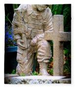 In Honor Of The Wounded Warrior Fleece Blanket