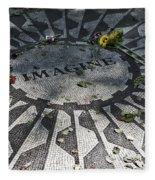 In Memory Of John Lennon - Imagine Fleece Blanket