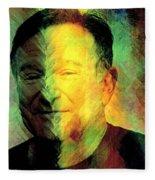 In Memory Of Robin Williams Fleece Blanket