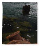 In Our Rusty Submarine Fleece Blanket