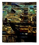 In Perspective - Fire Escapes - Old Buildings Of New York City Fleece Blanket