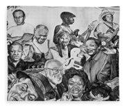 In Praise Of Jazz V Fleece Blanket