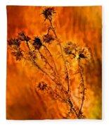 In Praise Of Weeds Fleece Blanket