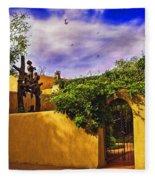 In Santa Fe - New Mexico Fleece Blanket