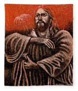In The Arms Of Christ Fleece Blanket